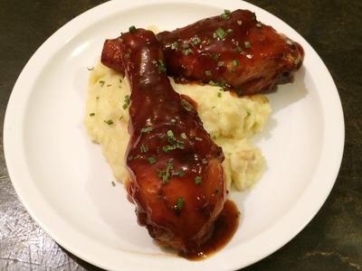 Pollo en Salsa BBQ agridulce, facil y rico receta casera.