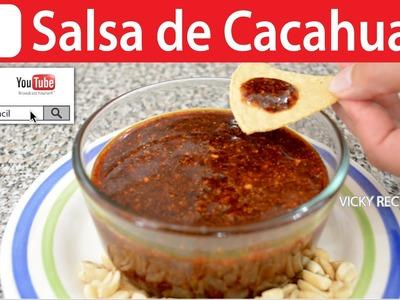 SALSA DE CACAHUATE | Vicky Receta Facil