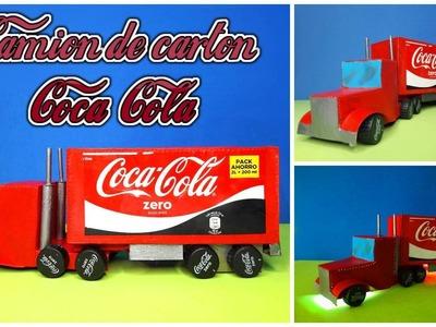 Camión de Coca Cola hecho con una caja de cereales | DIY Coca Cola