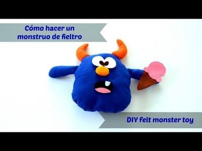 Cómo hacer un monstruo de fieltro - DIY felt monster toy