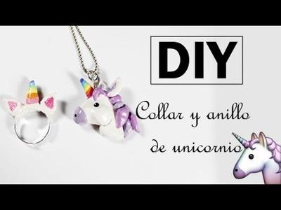 DIY ♥  Collar y anillo de unicornio + GANADOR SORTEO ♥ JOYERIA MÁGICA