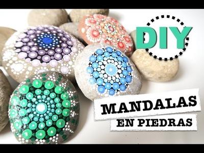 DIY | COMO HACER MANDALAS EN PIEDRAS |  SUPER FACIL ♡ STEFFIDO