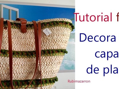 Diy. Decora tu capaza de playa facil