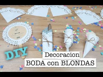 ♡ DIY DECORACION BODA ♡ | Que puedes hacer con blondas l  #4 | ♡ STEFFIDO