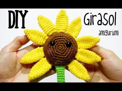 DIY Girasol amigurumi crochet.ganchillo (tutorial)