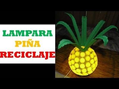 DIY : Lampara de TAPAS en Forma de Piña