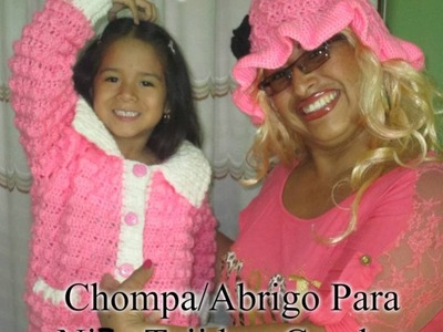CHOMPA.ABRIGO PARA NENA DE 4-5 AÑOS TEJIDO A CROCHET - 1ERA. PARTE