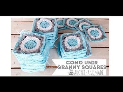 CROCHET: Como unir willow granny squares para manta Video 2