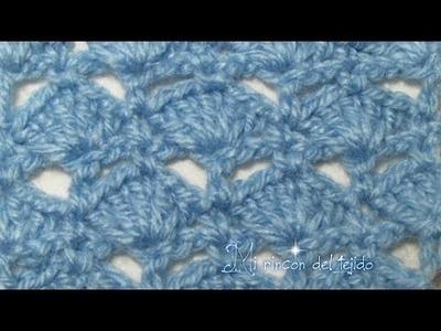 Crochet Punto fantasía #10 paso a paso