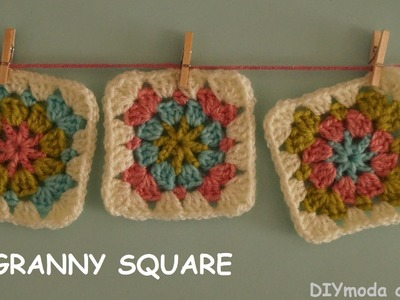 Cuadrado granny square a crochet paso a paso