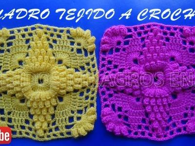 Cuadro tejido a crochet # 3 para cobijas y colchitas de bebe