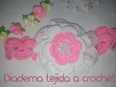 Diadema tejida a crochet fácil y rápido