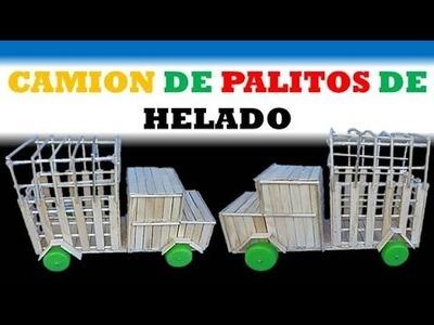DIY: Como hacer un Camion utilizando palitos de Helado