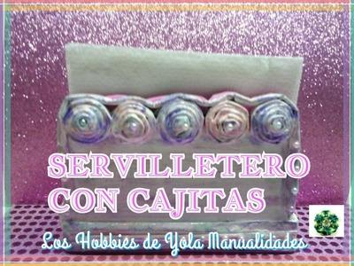 DIY Servilleteros fáciles con cajitas. Los Hobbies de Yola