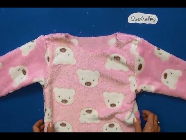 52eed2f614 Pijama para niñas y niños como hacer DIY clase  55