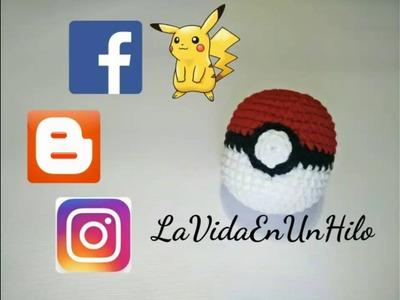 Pokeball o Pokebola Amigurumi en Crochet