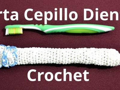 Porta Cepillo Dientes en tejido crochet tutorial paso a paso