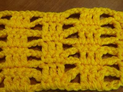 Puntada a crochet muy fácil, divertida, sencilla y linda. Muestra No. 46