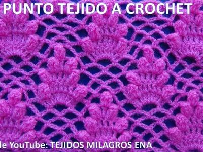 Punto # 13 tejido a crochet para blusas y vestidos