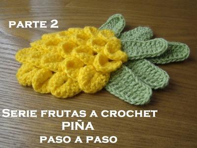 SERIE FRUTAS A CROCHET-- Piña paso a paso-- Parte 2
