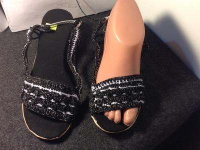 Zapatos tejidos Sandalias Tejidas a crochet PARTE 1.2