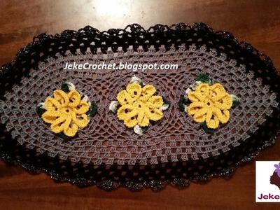 Centro de Mesa Boca de León - Crochet o Ganchillo - Paso a Paso