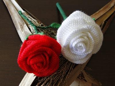 Como hacer una preciosa rosa a crochet.