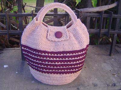 Como tejer bolso en crochet paso a paso tutorial parte 2