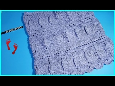 Falda con círculos parte 1 Ganchillo Crochet Skirt with Circles DIY