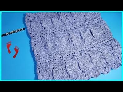 Falda con círculos parte 2 Ganchillo Crochet Skirt with Circles DIY