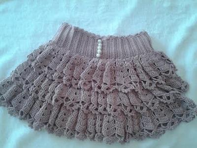Falda de volantes a crochet 2ª parte paso a paso