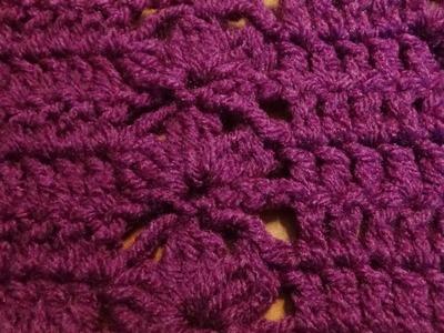 Puntada a crochet muy sencilla y fácil. Muestra No. 57