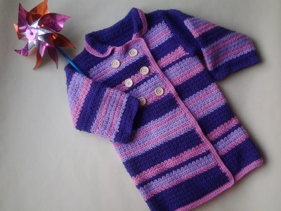 Abrigo niña a crochet 1ª parte #tutorial #diy
