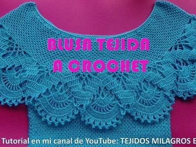 Blusa Tejida a Crochet para Verano parte 1 de 2