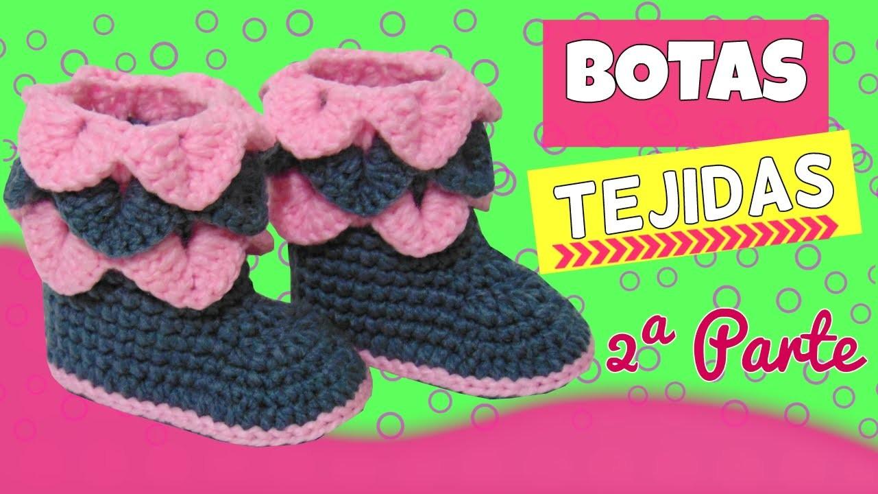 Botas tejidas a crochet con punto cocodrilo, parte 2.2