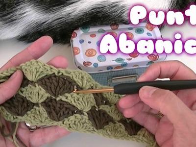 Como hacer el punto abanico en ganchillo o crochet facil