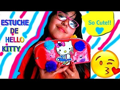 COMO HACER Estuche DE Hello Kitty con Goma eva | DIY Cartuchera Hello Kitty