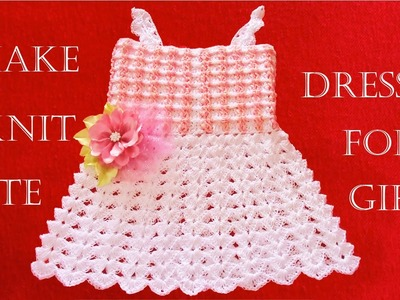 Como tejer lindo vestido para niñas a crochet -Make Knitting cute easy crochet dress for girls