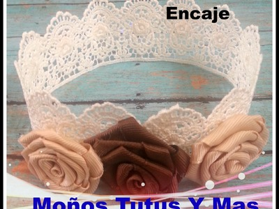CORONA DE ENCAJE Tecnica Engomado PAP Paso a Paso HOW TO MAKE LACE CROWN Tutorial DIY