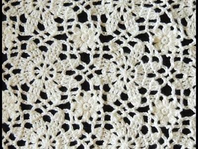 Crochet: Motivo Flores # 3 y Uniones