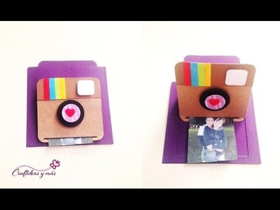 DIY: tarjeta deslizable. pop up instagram.scrapbook.exploding box.
