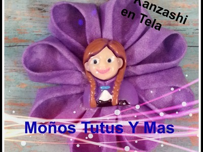 FLOR KANZASHI EN TELA Paso a Paso FABRIC KANZASHI FLOWER Tutorial DIY How To PAP