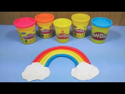 Manualidad para niños: como hacer Arcoiris con plastilina | Craft for kids: how to make Rainbow