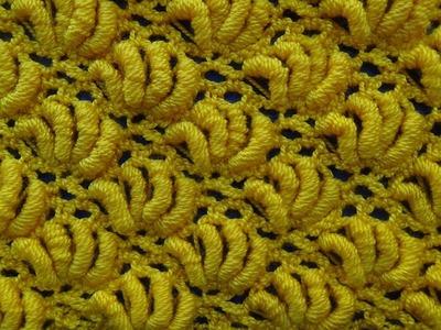 Punto crochet Abanicos de Rococo # 15 especial para cobijas de bebe