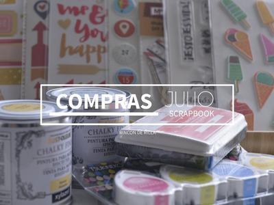 Scrapbook Haul de Compras: Julio