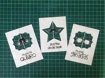 Tarjeta giratoria facil. easy spinner card DIY scrapbook