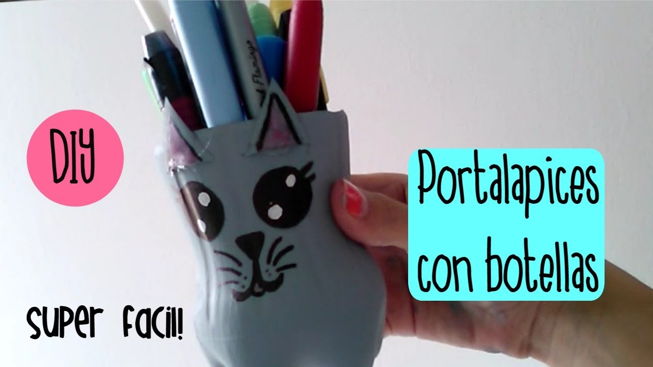 DIY Portalapices con una botella ¡super facil!- Mapa