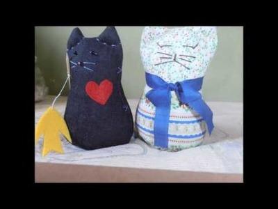 Gatos e artesanato