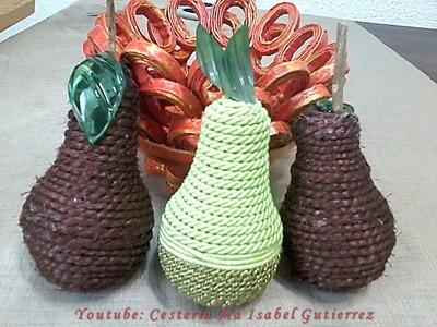 Como hacer frutas con material reciclado. DIY