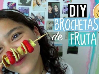 DIY: BROCHETAS DE FRUTA!